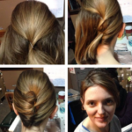 Short hairstyle updo